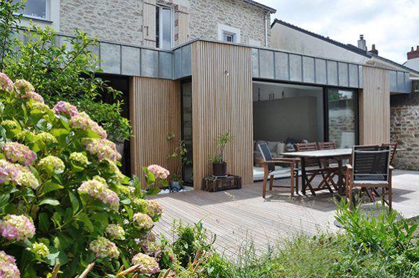 Pierre, Zinc et Bois Salon Maison Bois Angers Maisons architecte
