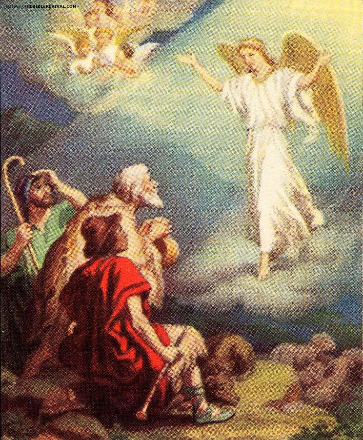 angels announcing jesus birth fear not for behold i bring you