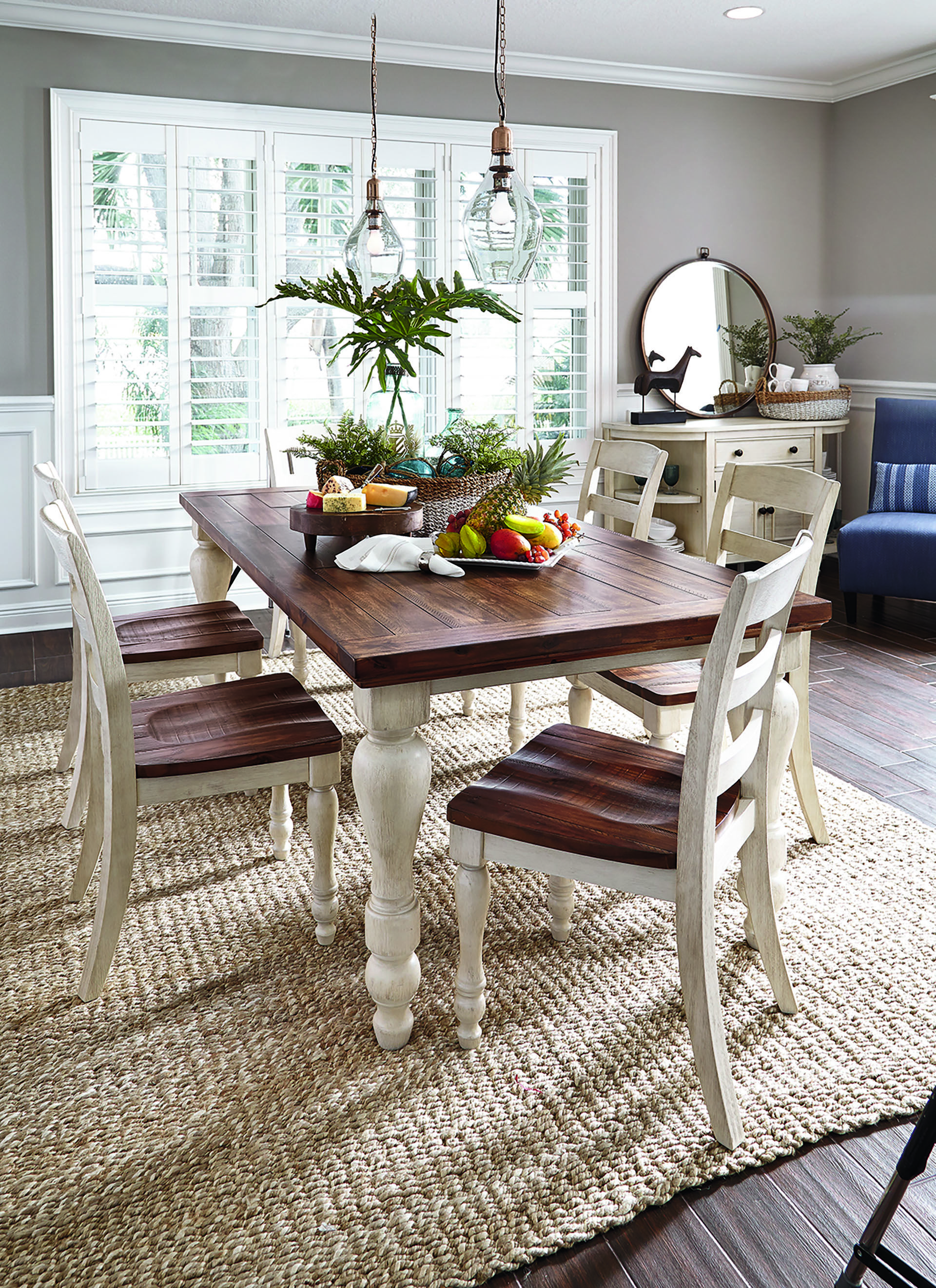 Ashley\'s Marsilona Dining- Love the dark and light wood together ...