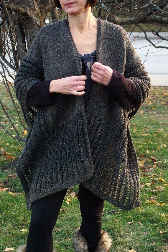 Knit Wrap, Knit Ruana, Wrap, Ruana, Wrap to knit, Knitting ...