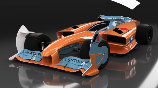 Orange And Blue Concept Race Car F1 In Schools Race Cars Car Racing