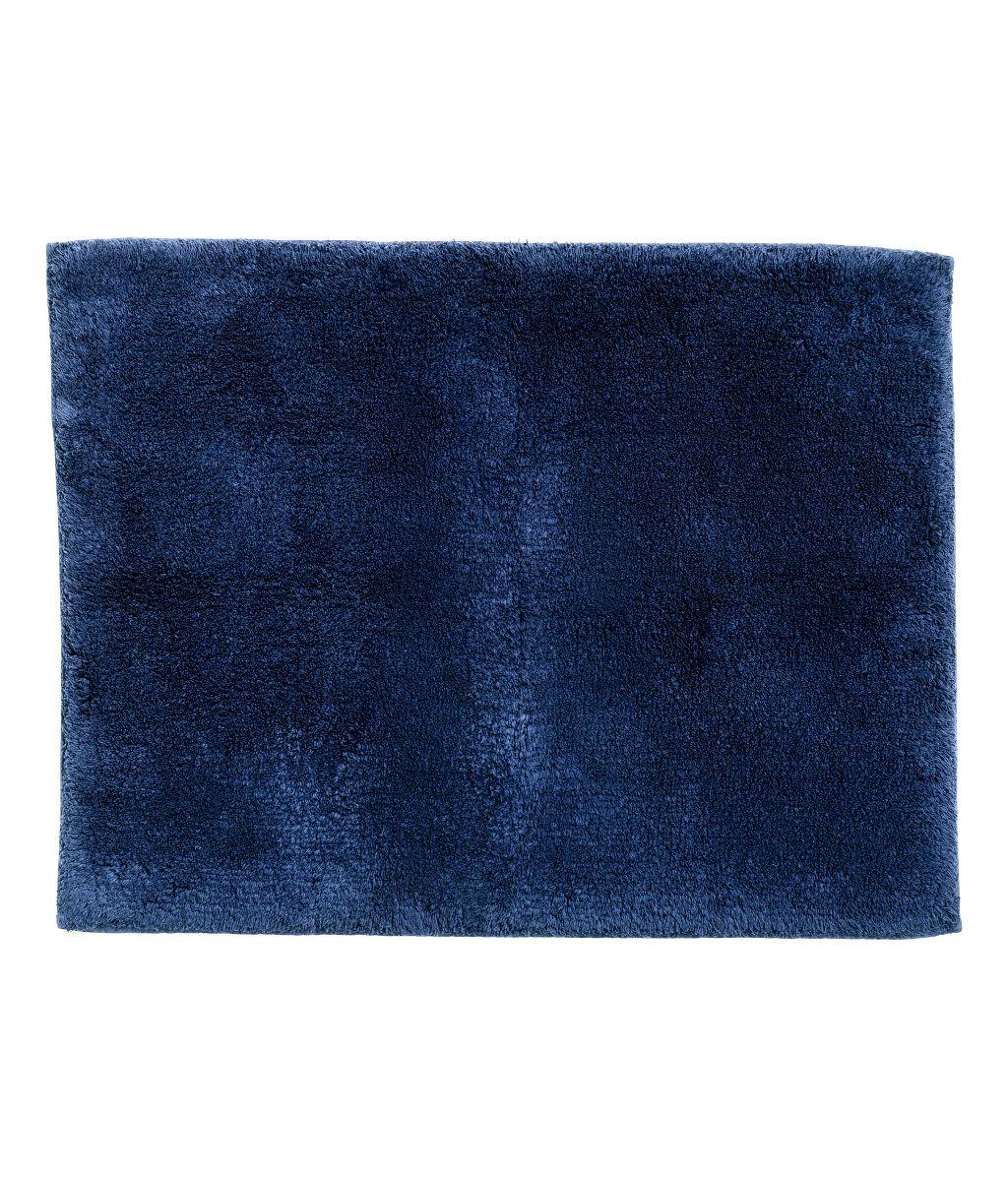 badematte | mørk blå | home | h&m no | interior | room | living, Badezimmer ideen