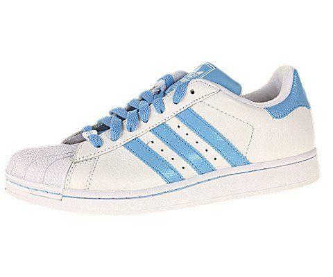 Adidas Superstar II (Kids) White Blue, 5.5 M US adidas