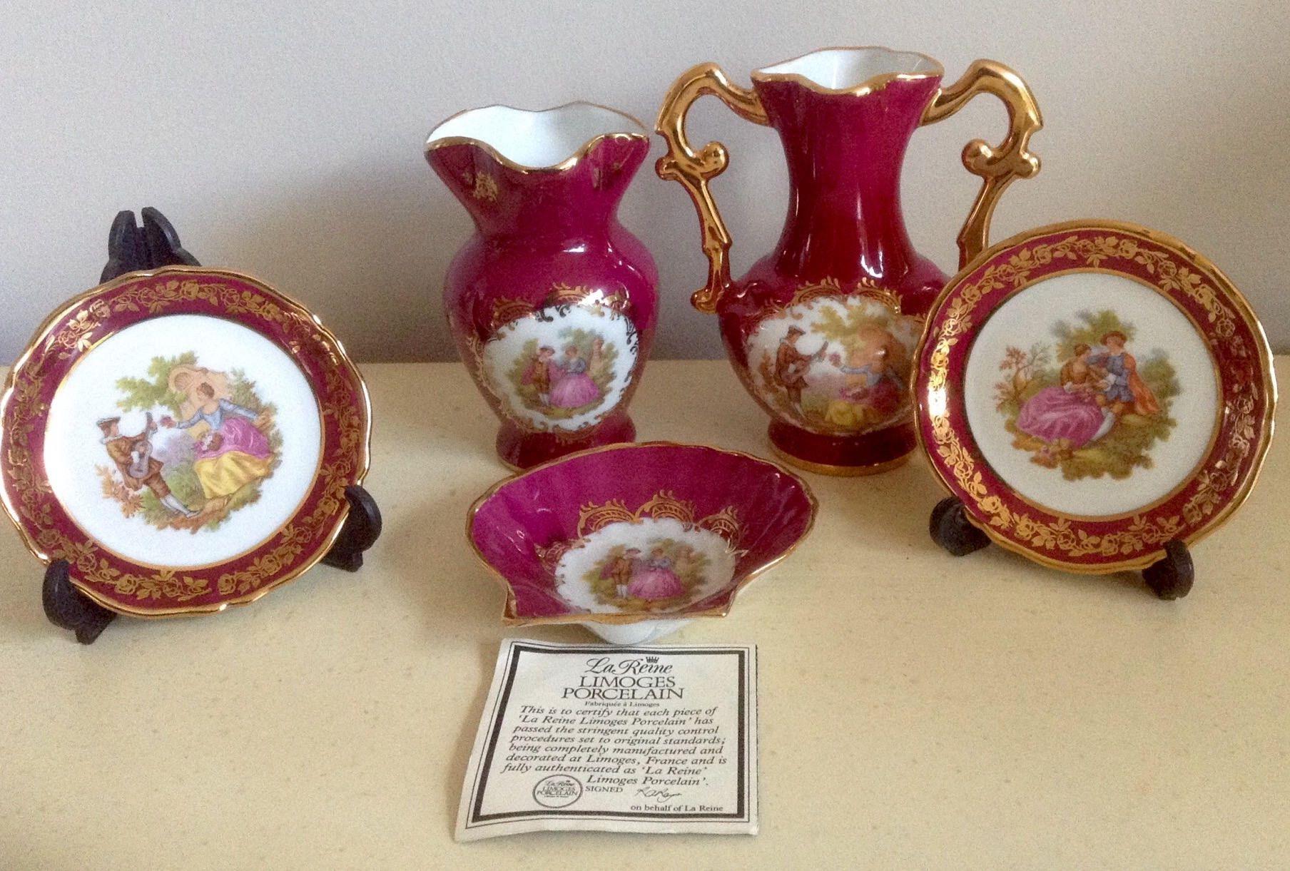 VINTAGE Miniature vase for showcase Limoges porcelain