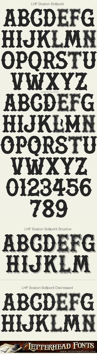 Letterhead Fonts Boston Ballpark Font Set Vintage Baseball Fonts Typography Fonts Typography Alphabet Baseball Font