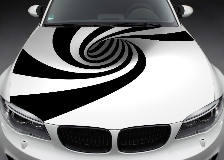 Abstract Full Color Graphics Adhesive Vinyl Sticker Fit Any Car - Custom vinyl decals for black cars