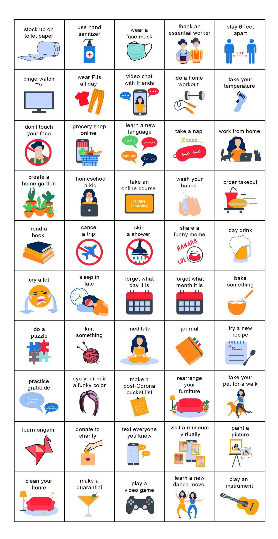Quarantine Bingo, Quarantine Games, Bingo cards, Zoom Bingo, Virtual Bingo Game, Social Distance Game