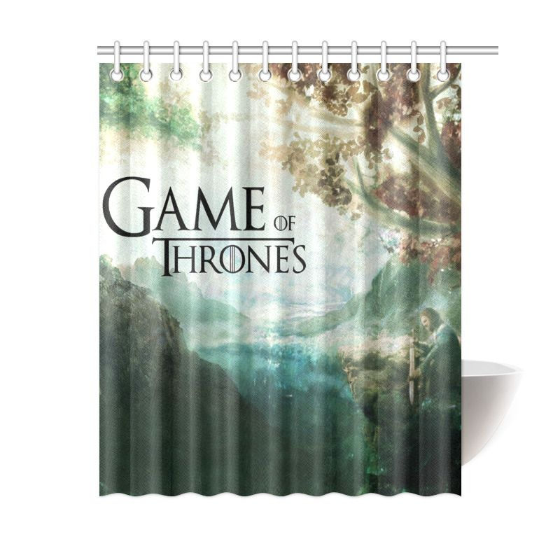Game Of Thrones Wolf Winter Bathroom Waterproof Shower Curtain Is Waterproof Polyester Fabric Shower Personalized Shower Curtain Curtains Shower Curtain Decor