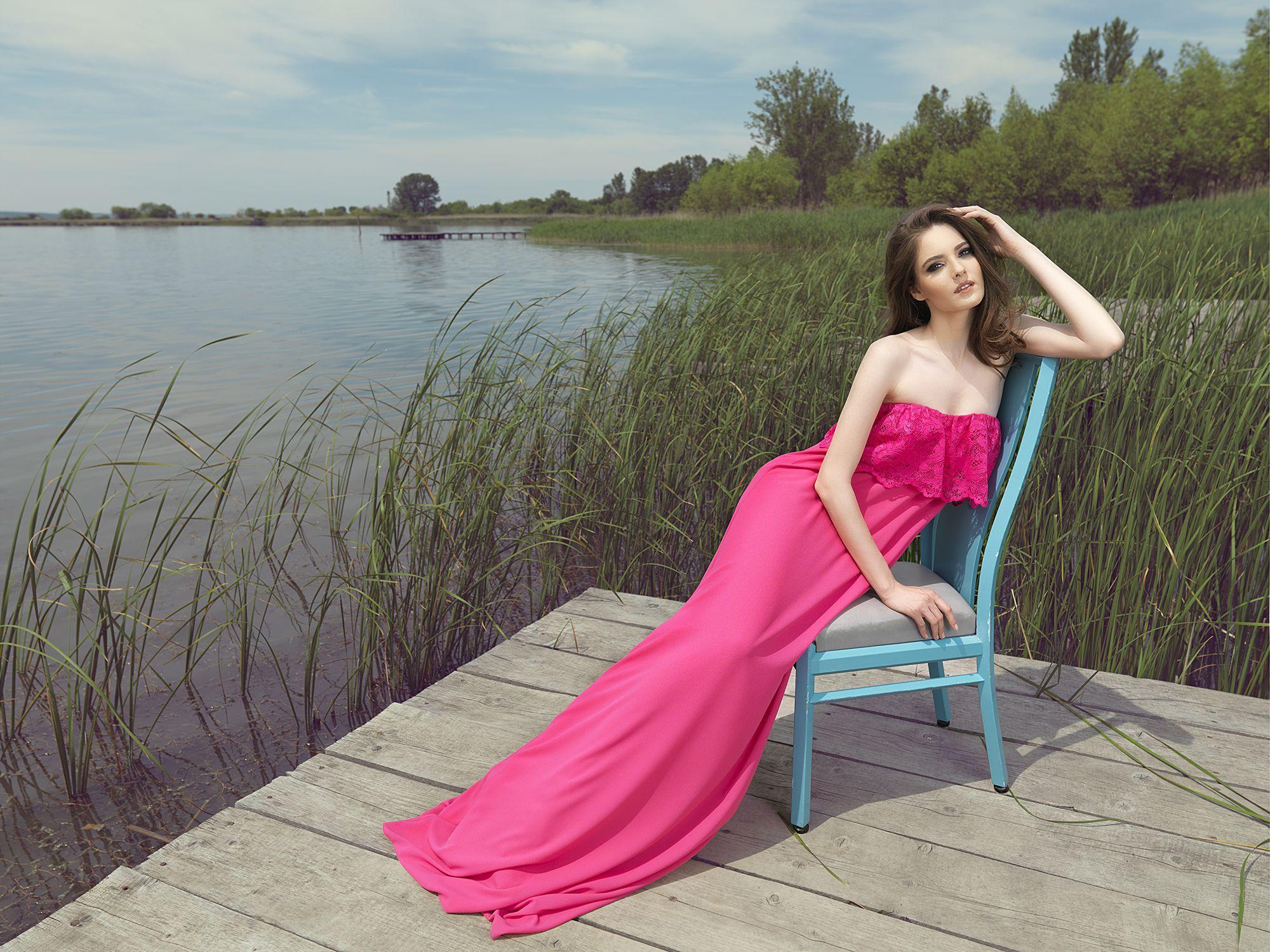 Summer delight - POEMA -       http://shop.poema.ro/pinterest-poema        *rochie lunga roz cu volan