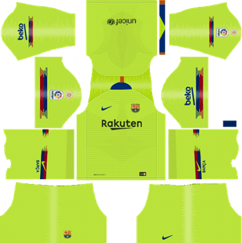 Barcelona Away Kit 2018 19 Dream League Soccer Kits Url 512x512 Soccer Kits Barcelona Football Kit Soccer League