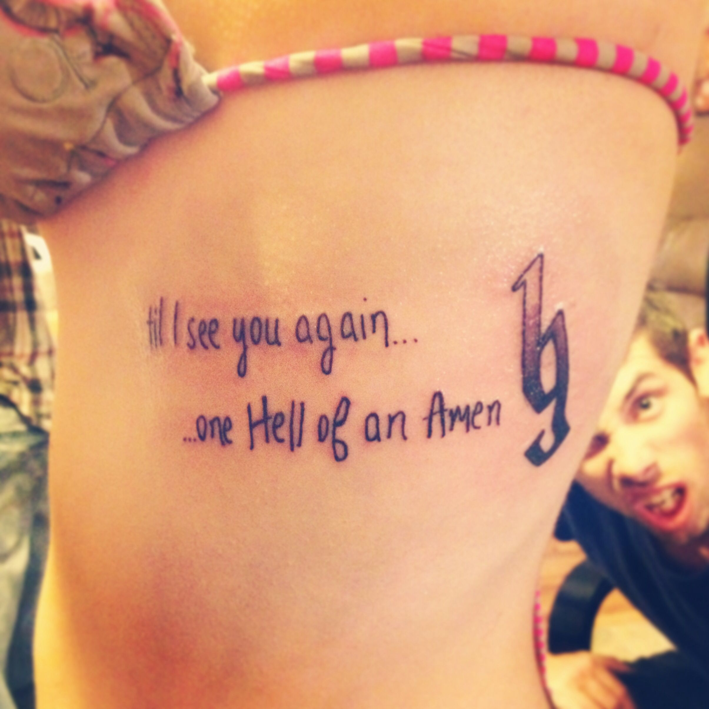 My Fourth Tattoo: January 2014 I Promised My Daddy I Would