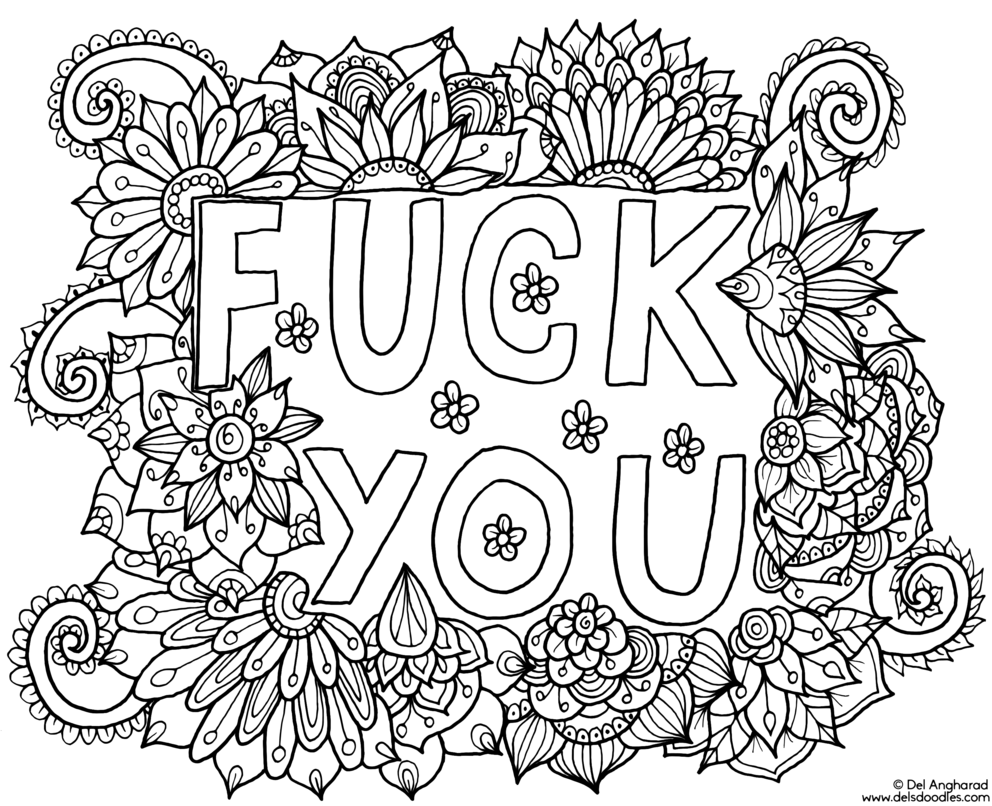 Fuck you coloring page. Click the \'download\' link on the right to ...