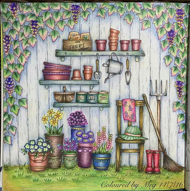 Pin By Isabel Ferrer On Coloring Book Romantic Country Secret Garden Coloring Book Coloring Books