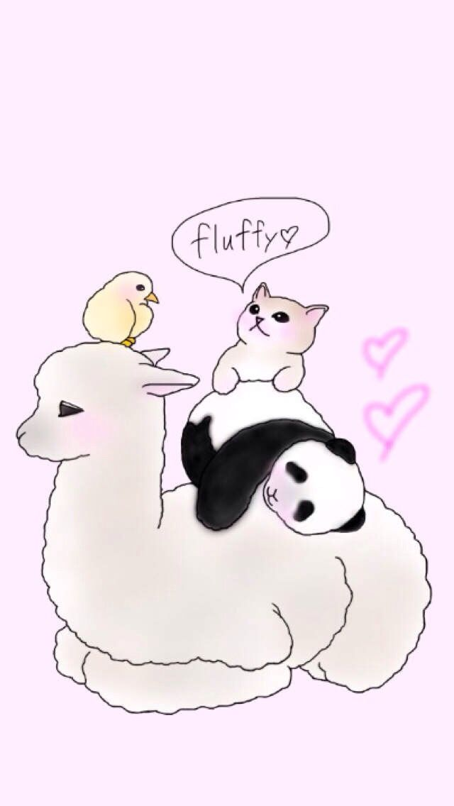 Chick Kitty Panda Alpaca Or Llama Lol So Fluffy And Cute