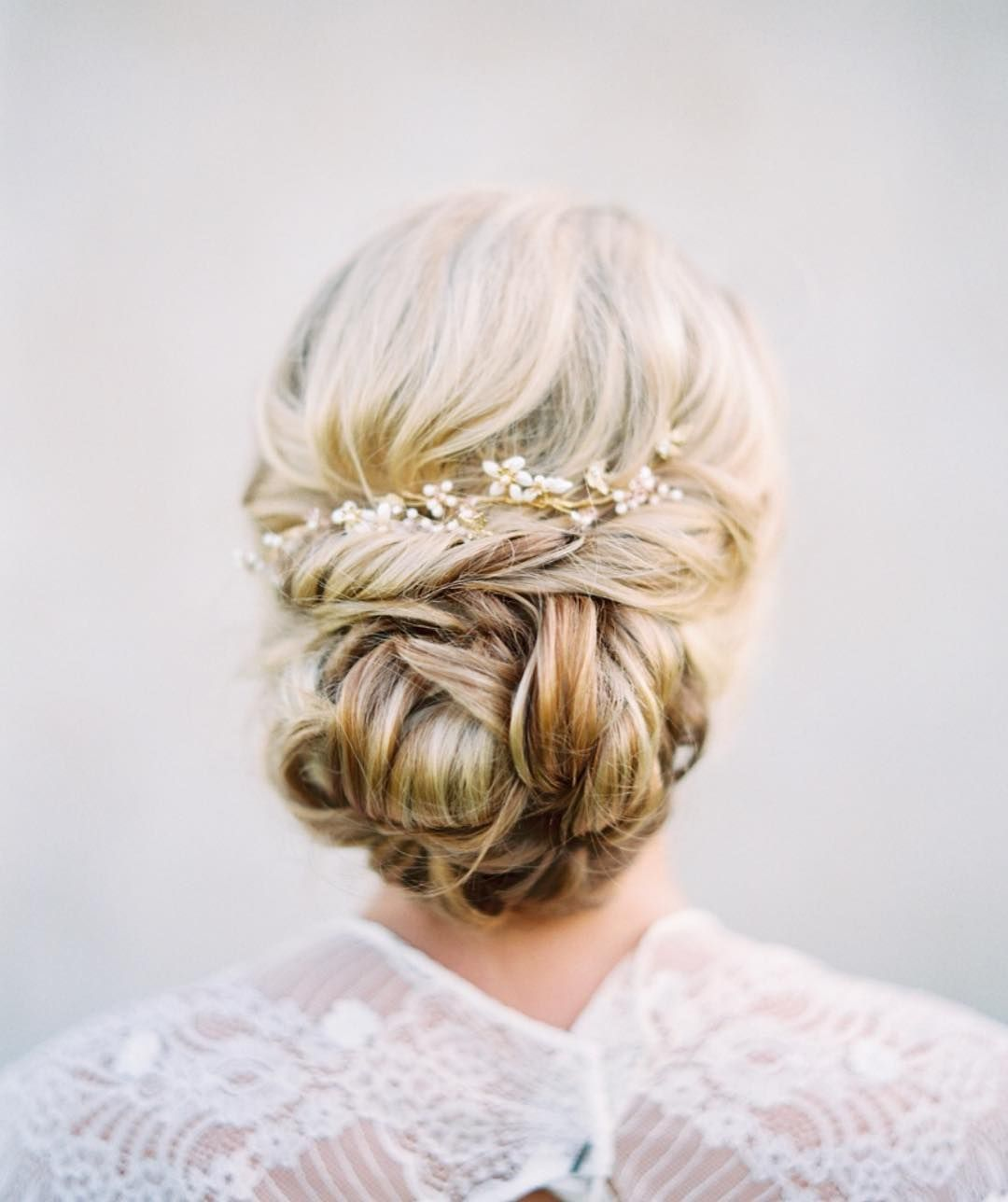 The Most Romantic Bridal Updos Wedding Hairstyles | Romantic bridal ...