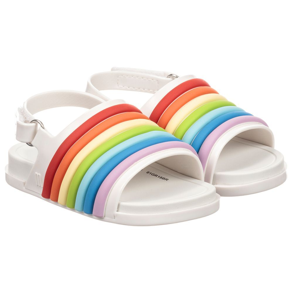 White Rainbow Beach Sandals For By