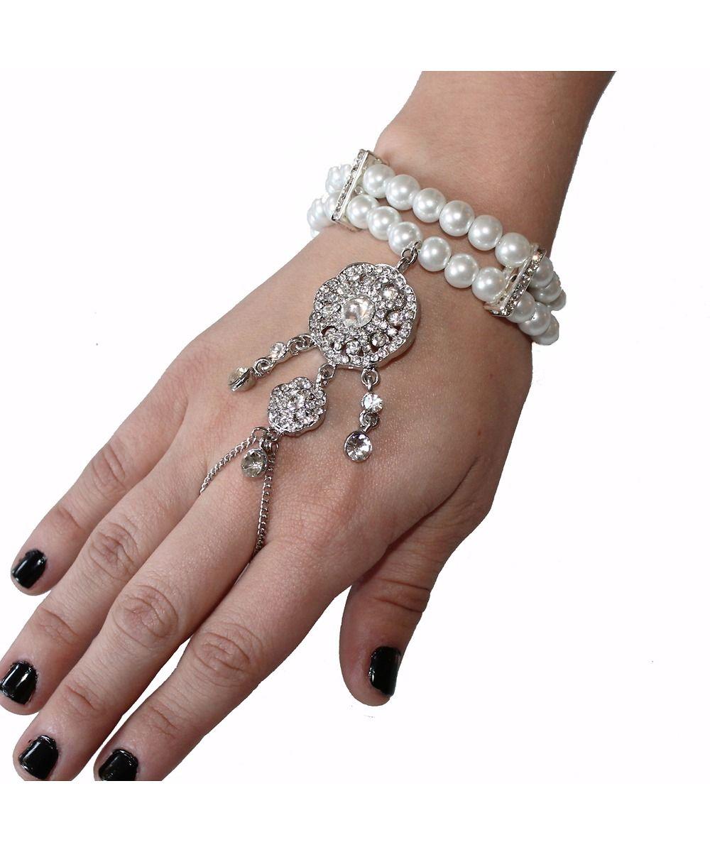 1920s Gatsby Inspired Crystal Pearl Bracelet Lately