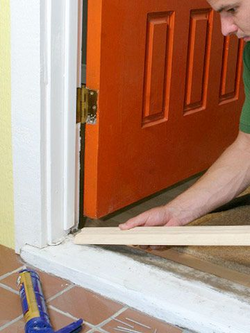 The best way to replace a door sill and threshold in 2019 diy doors home diy home improvement for How to install a threshold for an exterior door