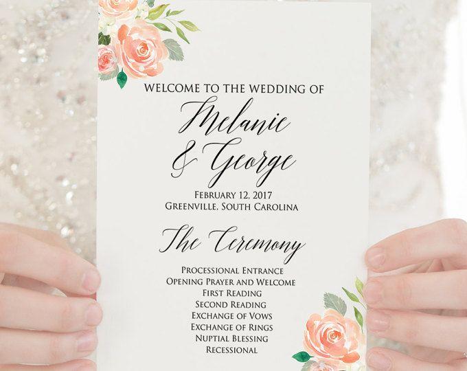 Wedding Programs PRINTED Programs Wedding Ceremony Programs Order