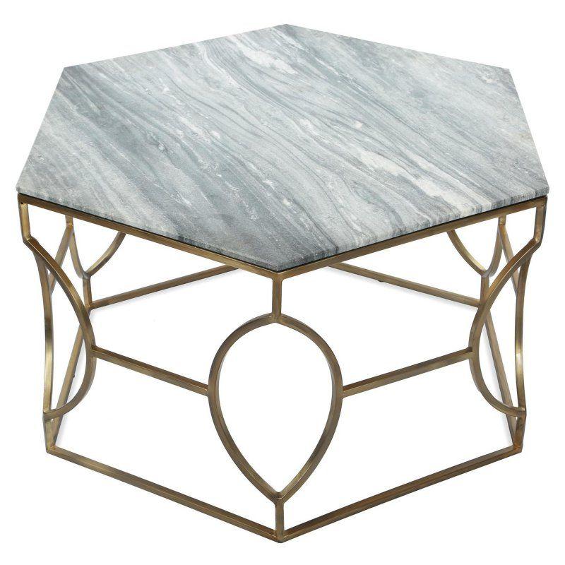 Riverside Furniture Barron Marble Hexagon Coffee Table Hexagon