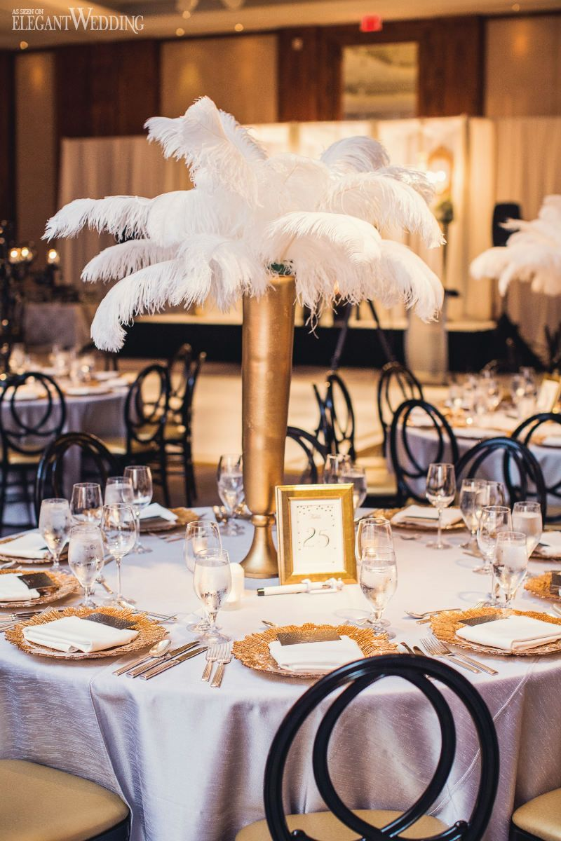 Elegant wedding decoration ideas  Toronto Indian Gatsby Wedding  Elegant Wedding  Modern Wedding