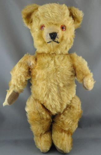Deans UK Teddy Bear Gold Mohair Plush 14
