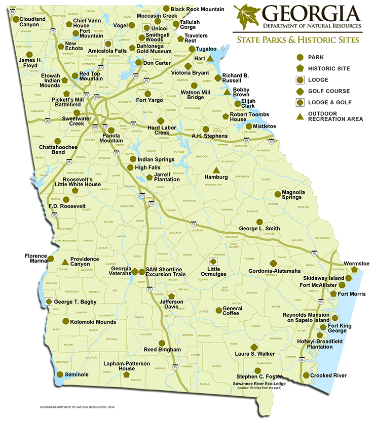 State Parks & Historic Sites Campgrounds in and