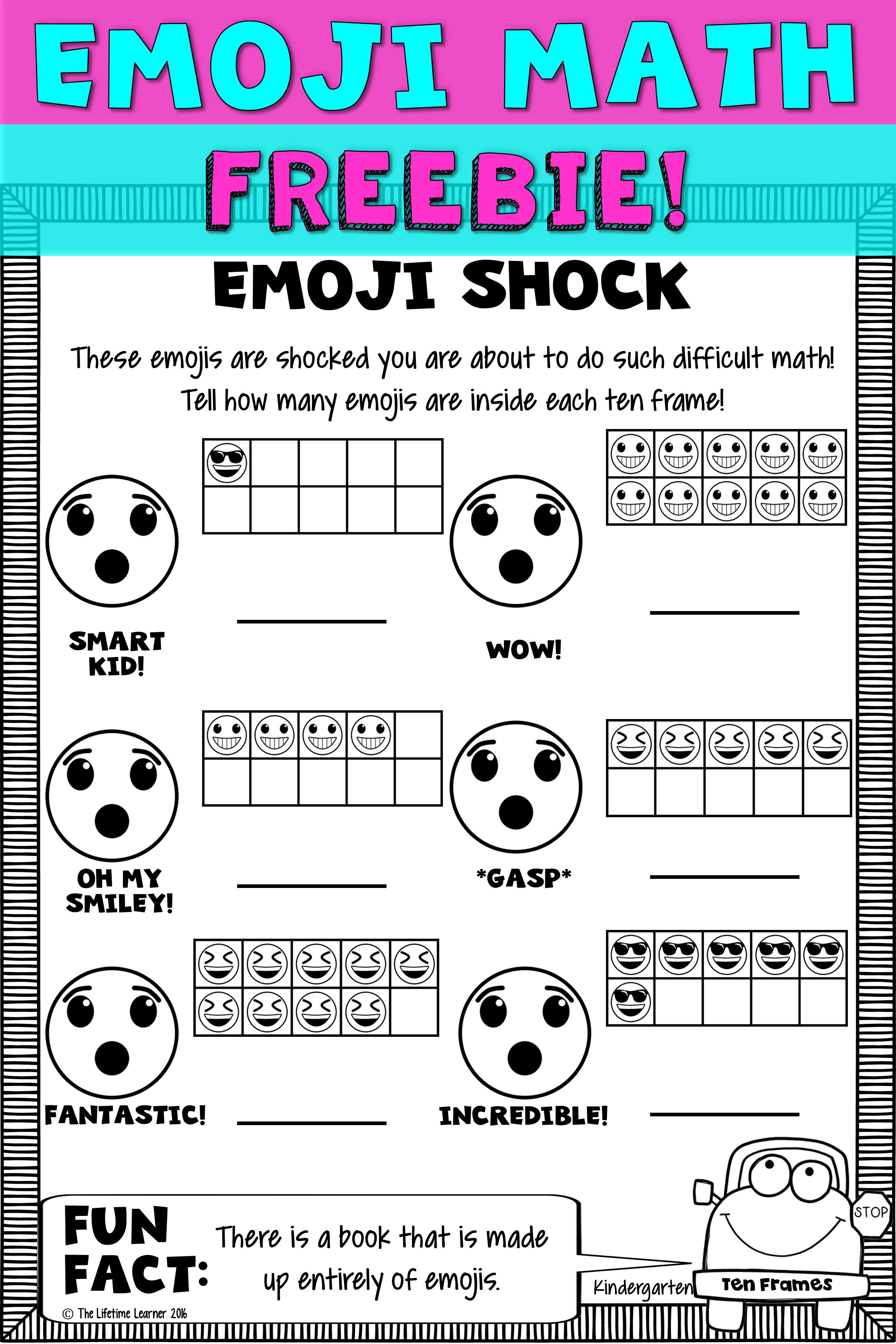 Kindergarten Math Worksheet Ten Frames