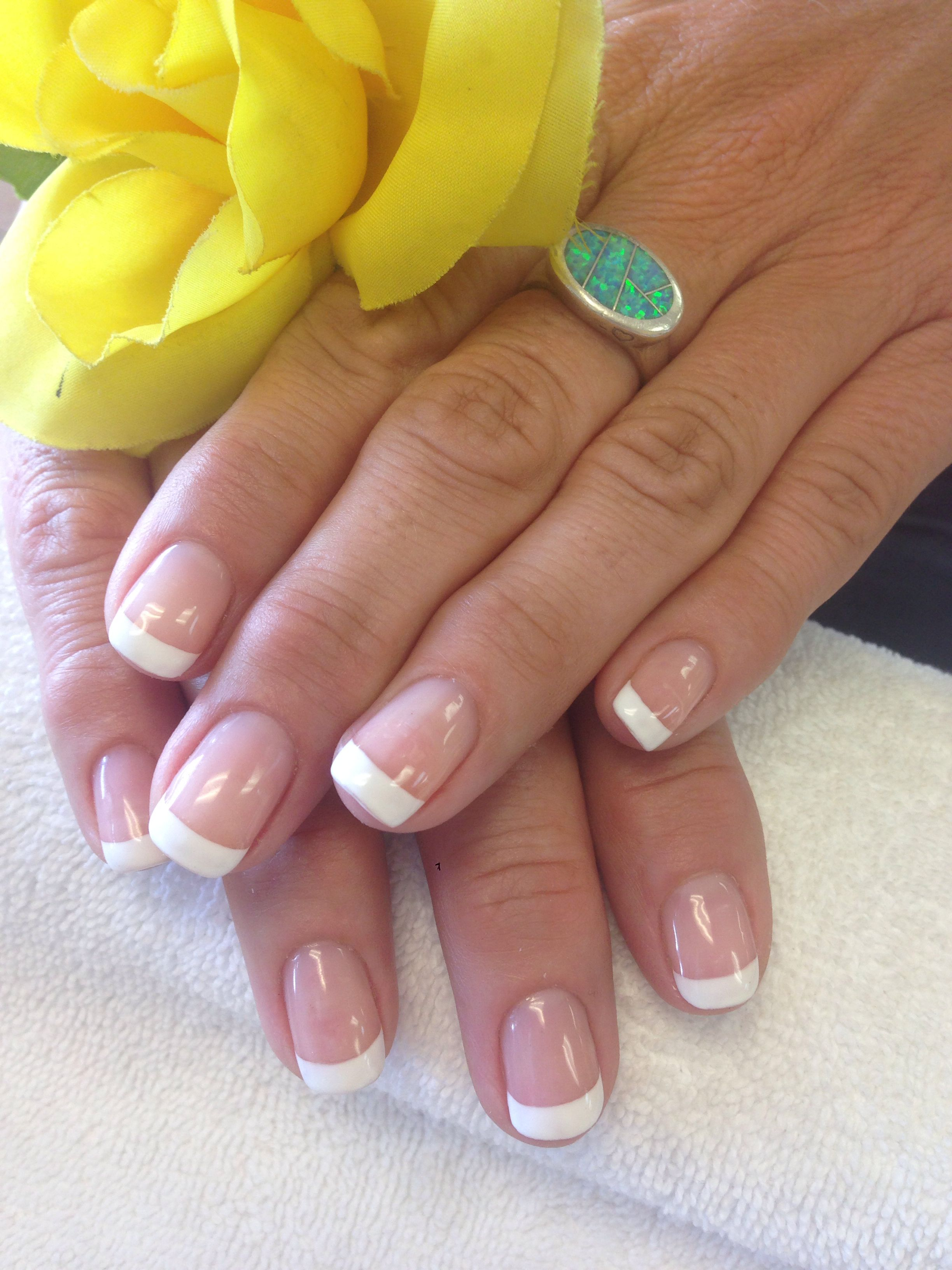 French Gel manicure. 3d Nail art Angel Nails San Diego 7061 ...