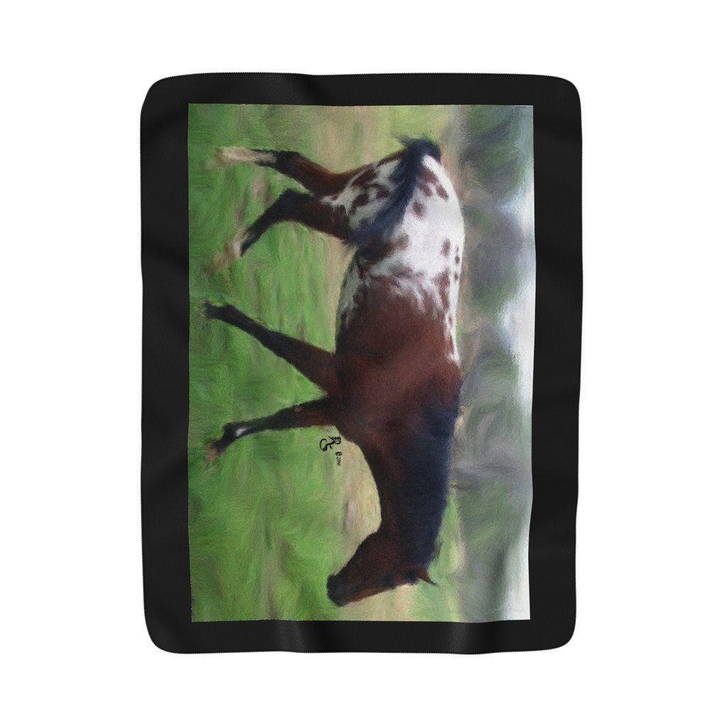 Appaloosa sherpa fleece blanket tshirts framed fine art prints