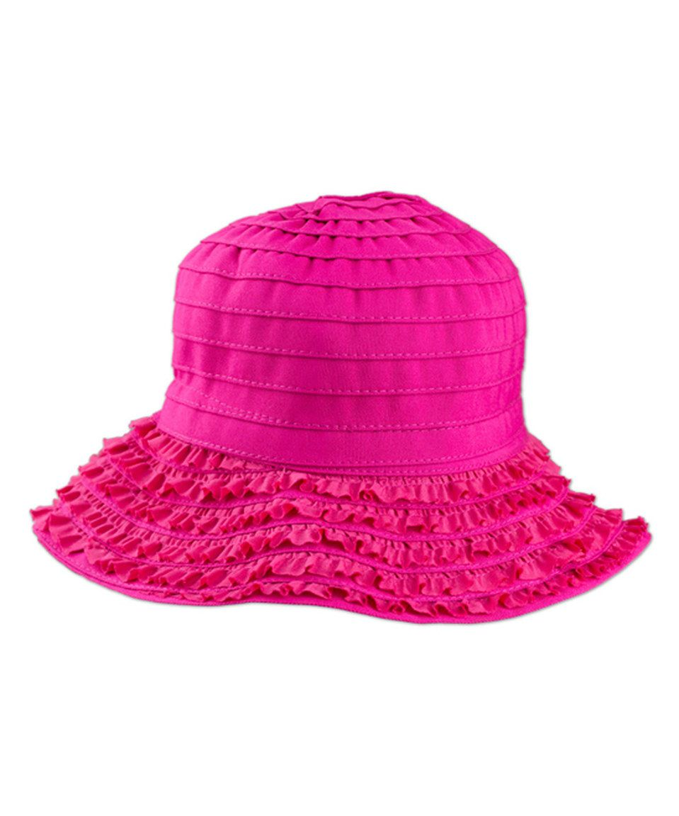 43b782b8d72 Look what I found on  zulily! Hot Pink Ribbon Sun Hat by UV Skinz ...