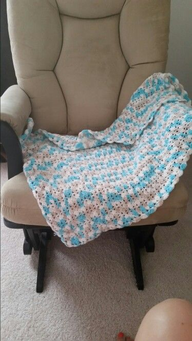 First Baby Blanket pattern by Red Heart using Bernat Baby Sport in ...