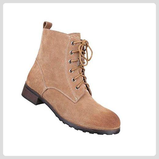 Damen Wild-Leder Stiefeletten   Frauen-Stiefel Wadenhohe-Stiefel   Schuhe  Schlupf- 0c9b07ab8b