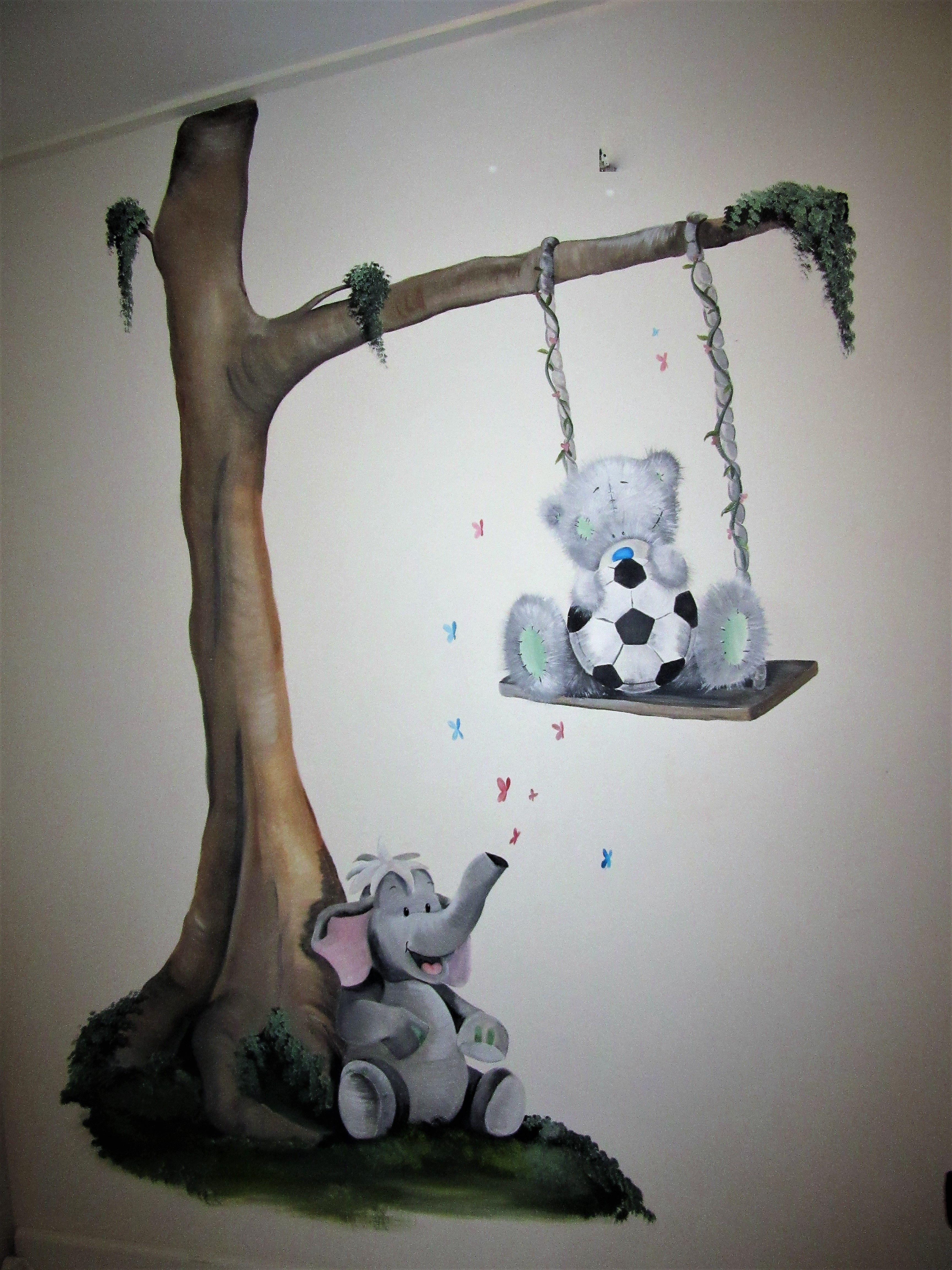 Kinderkamer Decoratie Muur.Muurschildering Babykamer Kinderkamer Baby Schildering Muur