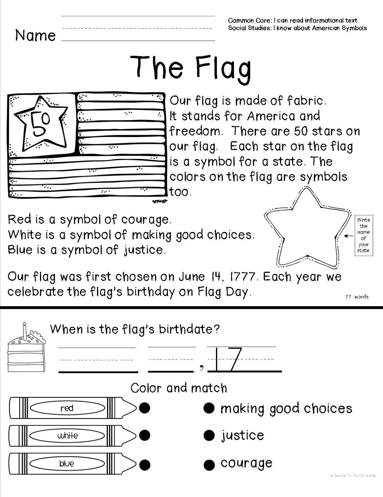 I Have Taught This For 4 Years And Got The Best Clip Art To Turn It Into A Fabulous U American Symbols Social Studies Worksheets Kindergarten Social Studies