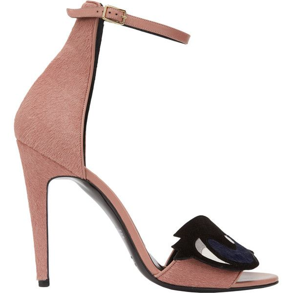 Pierre Hardy Eye Sandal Pump ($965) ❤ liked on Polyvore featuring shoes, pumps, multi colored shoes, buckle shoes, open toe shoes, multi colored pumps and open-toe pumps