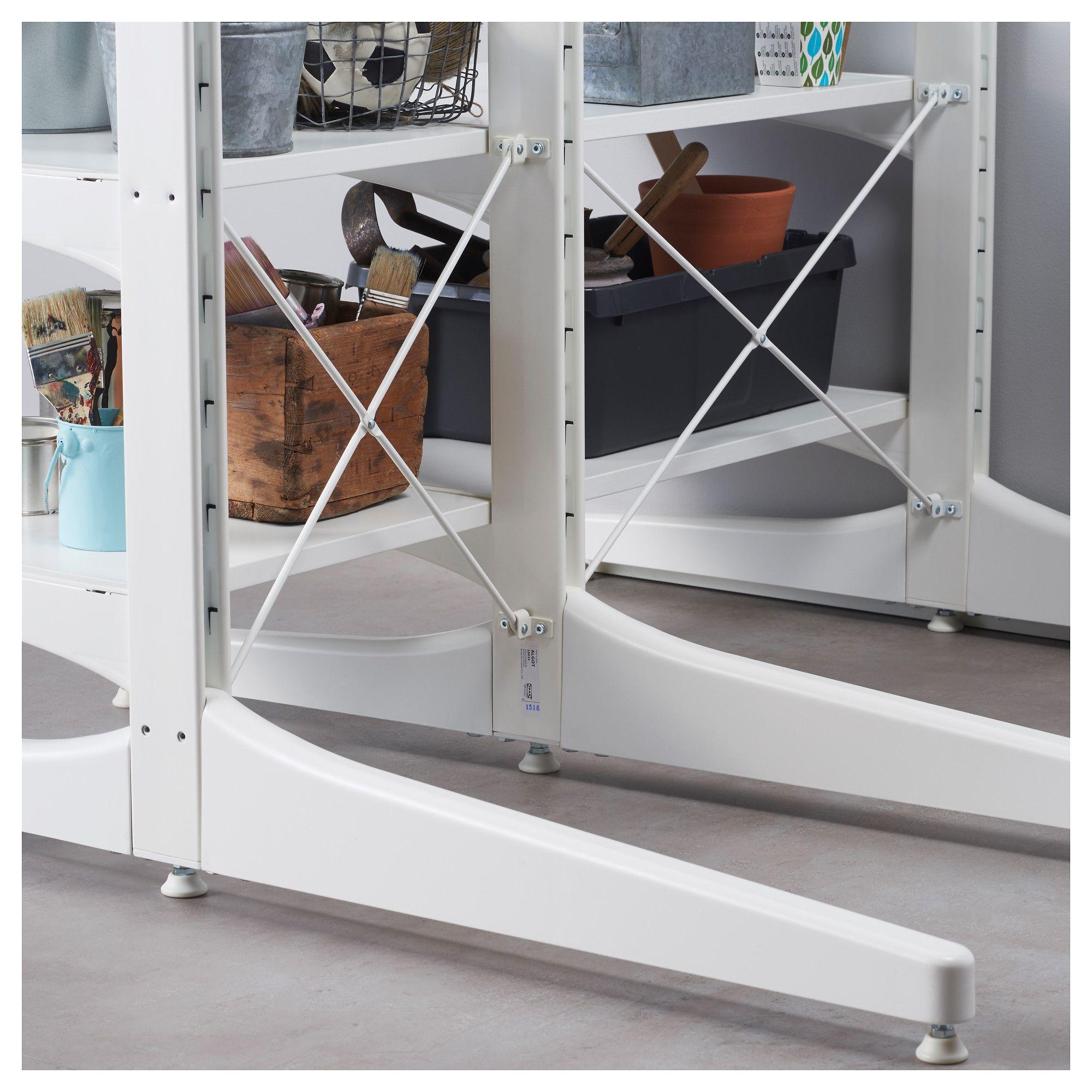 Ikea Houten Ladekastje.Algot Top Rail With Cross Brace White Ikea Products Wardrobe