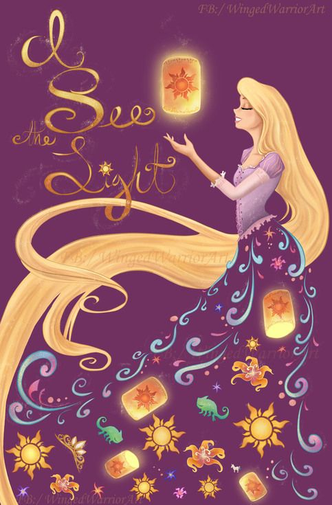 And it's like the sky is new...  Make Rapunzel your new dream by adding her to your home!!    This is an 11x17 print on high quality semi gloss cardstock, full bleed.   Watermark will NOT be on the printed version. Shipped in a protected sleeve in between cardboard backing, guaranteed to get