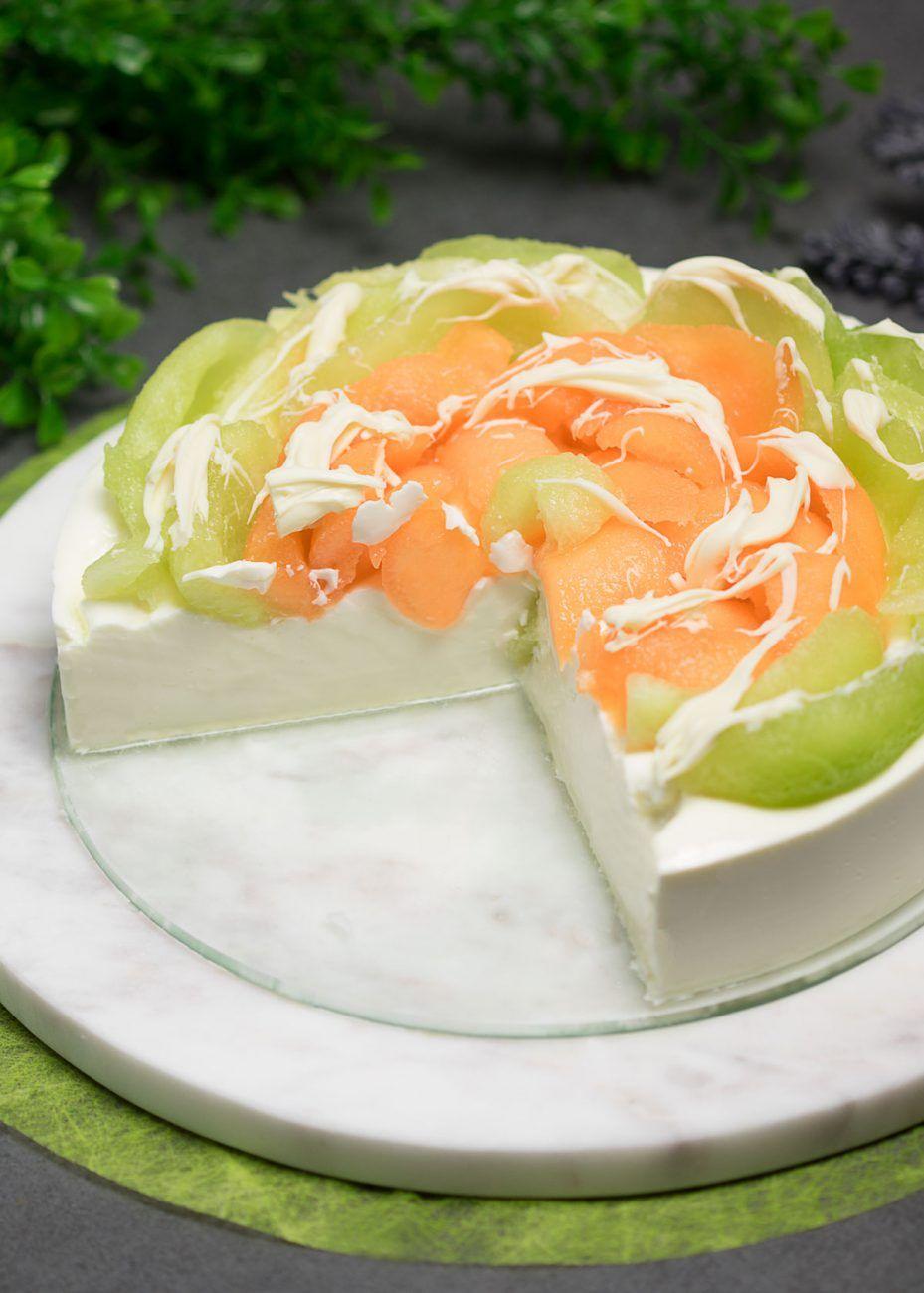Schneller Joghurt-Melonen-Kuchen ohne Boden - Low Carb und Gesund
