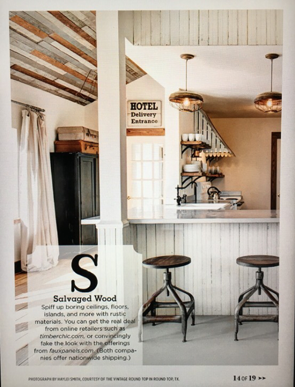 COUNTRY LIVING MAGAZINE FEATURE March 2016 Issue — The Vintage Round Top