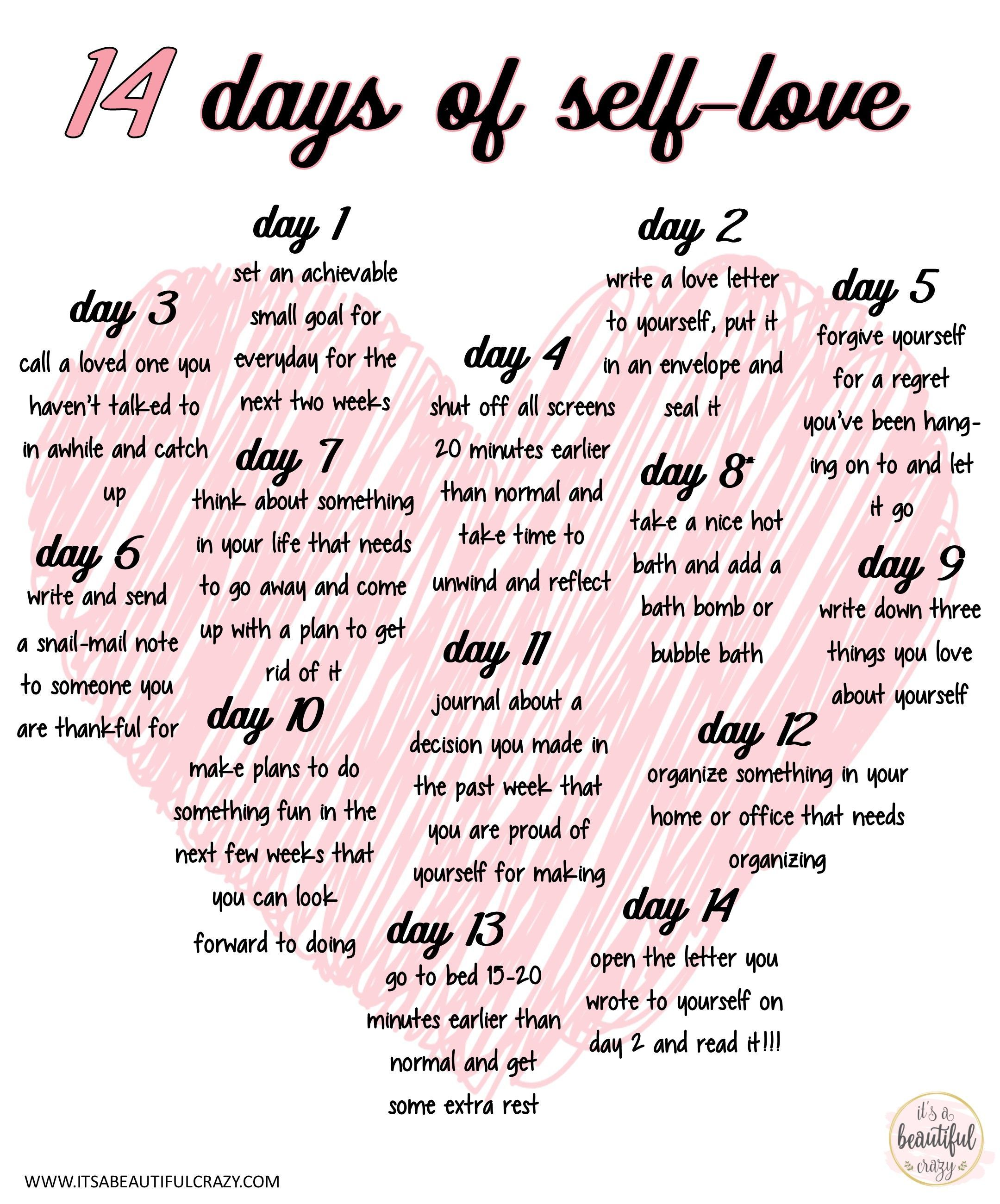 14 Days Of Self Love