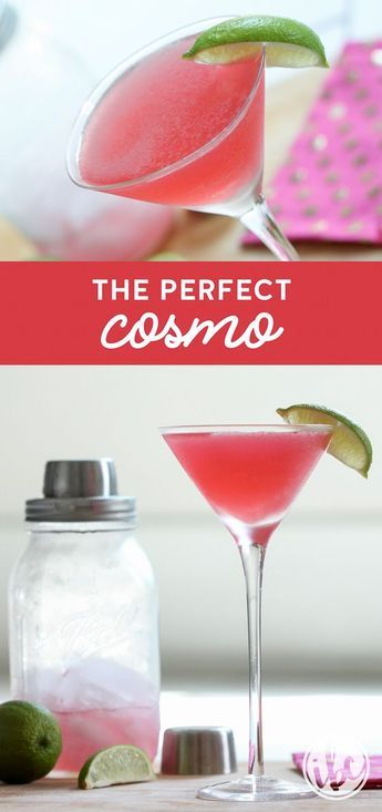 Learn How to Make The Perfect Cosmo! You'll love this classic drink recipe! #cosmo #cocktail #martini #recipe via @inspiredbycharm #cocktaildrinks