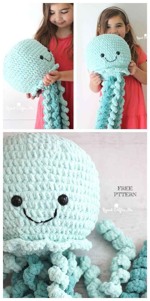 Photo of Crochet Giant Jellyfish Toy Amigurumi Free Pattern