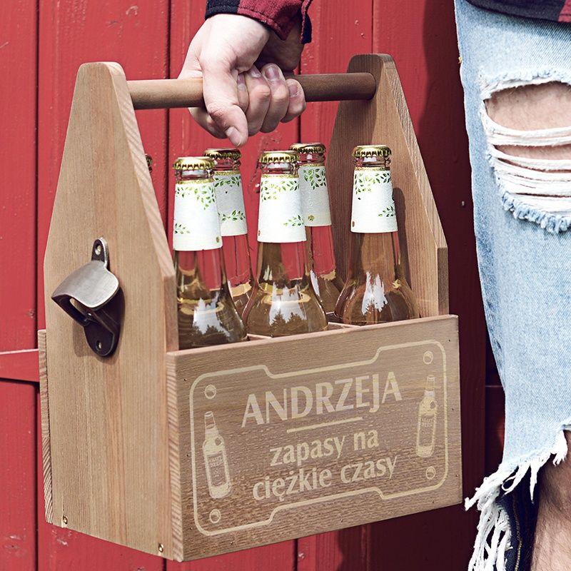 Grawerowane Nosidlo Na Piwo Zapasy Dla Faceta Gifts Wine Rack Decor