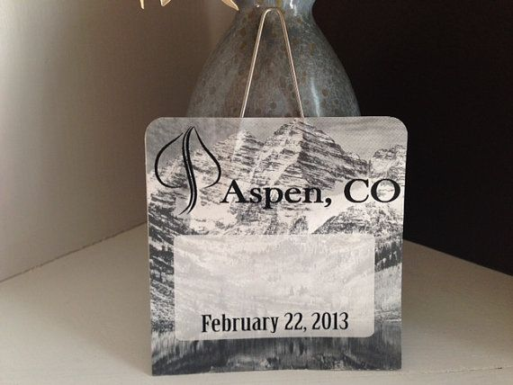 Custom Lift Ticket Place Card Ski Wedding Or Party