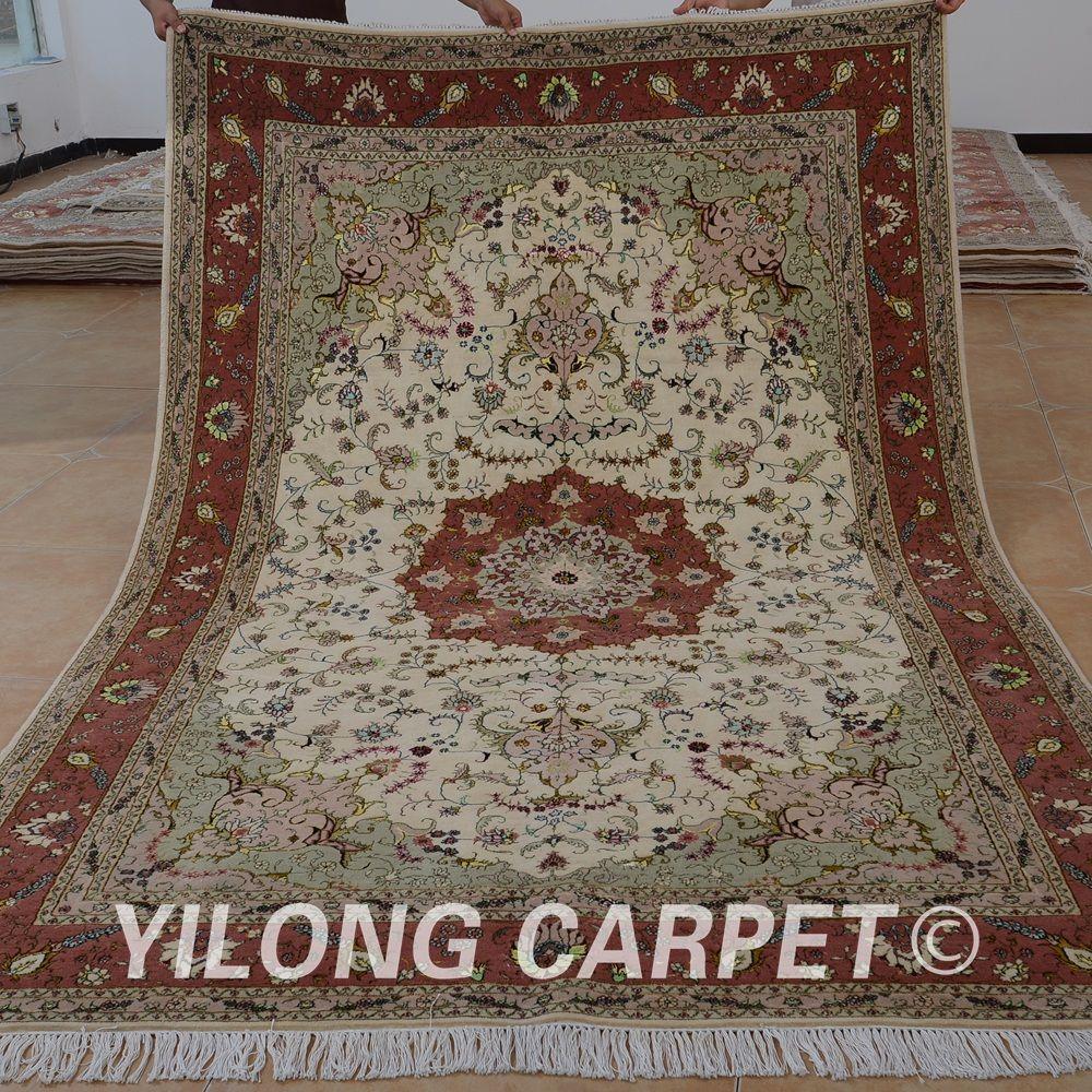 Yilong 6 X9 Oriental Fine Persian Wool Carpet Exquisite Wool Silk Persian Rug For Sale 1475 Persian Rugs For Sale Wool Carpet Silk Persian Rugs