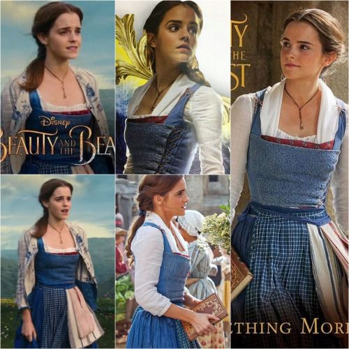 """everythingbeautyandthebeast: """"Belle's blue village dress from Beauty and the Beast (2017) """""""