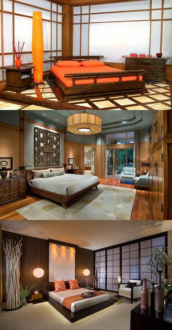 Japanese Bedroom Designs - Natural Look - http://interiordesign4.com ...