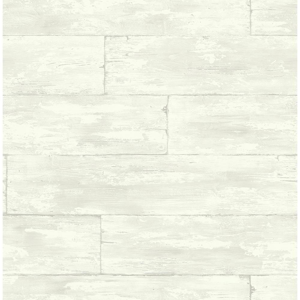 Kenneth James Shipwreck White Wood Wallpaper Sample