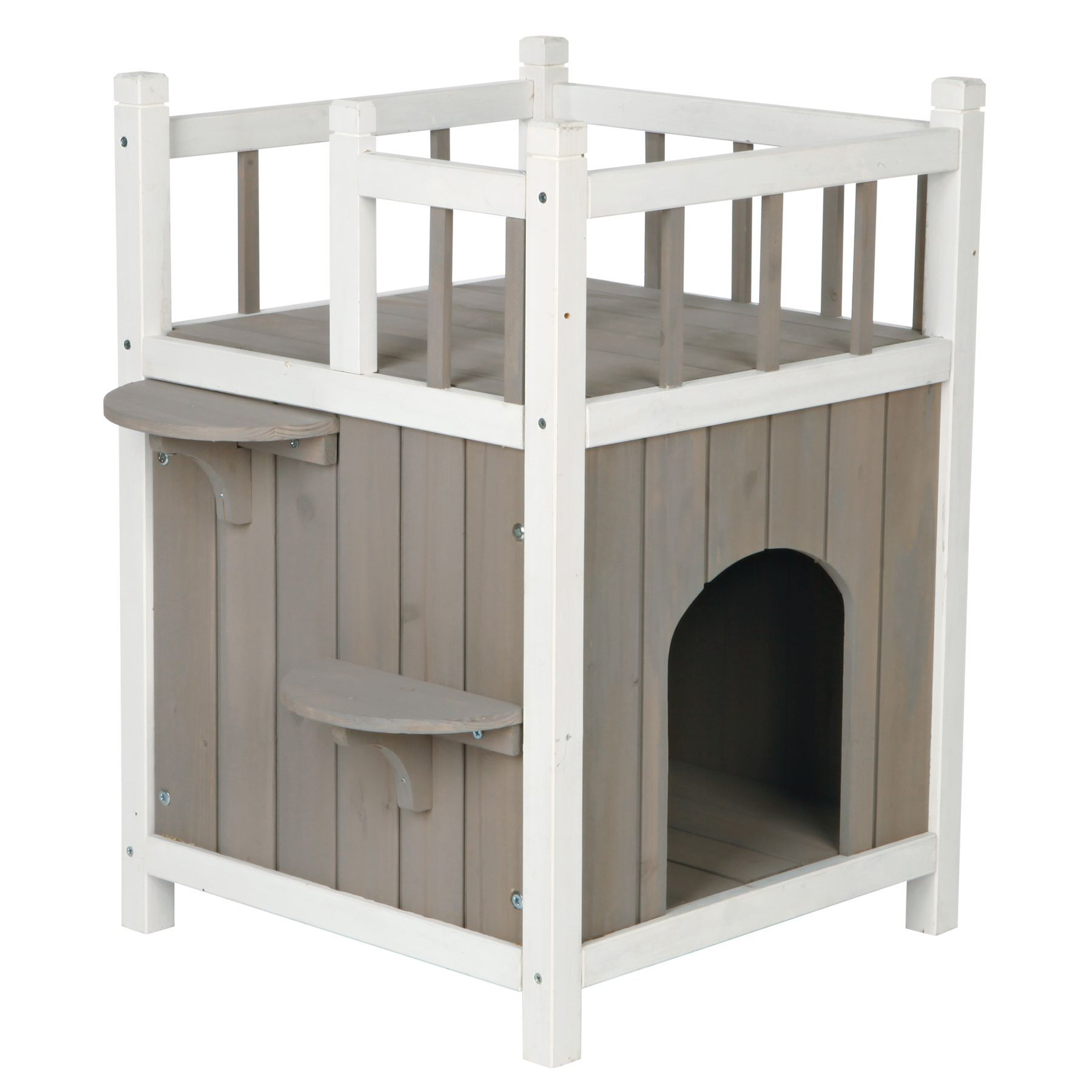 Trixie Balcony Cat Home Outdoor Cat House Wooden Cat House Pet Home